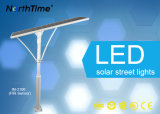 luz de calle solar toda junta de 100W 3-Years-Warranty IP65 con el panel de Sunpower