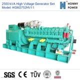 2750kVA de Reeks van de Generator van de hoogspanning 10-11kv met Googol Motor 50Hz