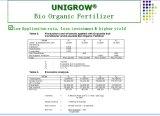Unigrow adubo orgânico em qualquer plantação de produtos hortícolas