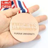 fait sur mesure personnalisée gravée au laser unique de métal plaqué Or nom Médaille vierge avec le logo autocollant de l'impression insère