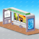 Painting Surfaces Tempered Glasss Stainless Steel Metrial Bus Shelter