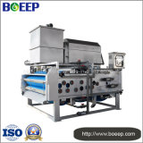 Máquina de desecación de la prensa de la correa en el tratamiento de aguas residuales