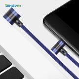 유형 C를 위한 휴대용 T 유형 금속 헤드 진 USB 비용을 부과 케이블