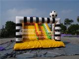 С наступающим новым годом луна-Football тематические надувные слайд