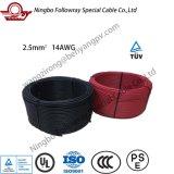 6mm2 1000V AC TUV 2pfg1169 de doble aislamiento diplomados Cable Cable de Energía Solar Fotovoltaica PV