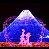 Lichte Decoratie van het Huwelijk van het LEIDENE Gordijn van Kerstmis de Lichte