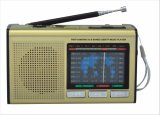 Portable FM/Am/Sw1-7 9 Bands Radio with USB/TF/Rechargeable/Bluetooth