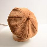 Велюр Colorfur мода зимы Red Hat береты