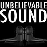 D3 nero 3.5mm in cuffia avricolare collegata stereo dell'orecchio passa i trasduttori auricolari liberi con costruito in microfono del Mic e multi tasto di funzione per perfezione 2017 di Huawei Y7