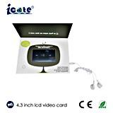 O melhor preço folheto video do LCD de 4.3 polegadas com fone de ouvido