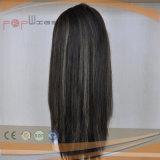 Virgen brasileño Remy la parte superior del cuero cabelludo del cabello mujer peluca (PPG-L-01627)