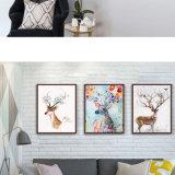 Maschera di arte della parete dei cervi/alci della pittura della tela di canapa dell'olio di HD Aninal