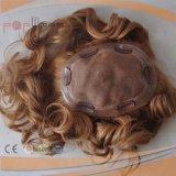 Partie blonde de plein du lacet 100% de cheveux humains cadre d'unité centrale