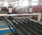 Hoja plástica del material para techos de PVC+ASA para la vertiente que hace la máquina
