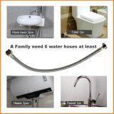 En acier inoxydable tressé toilettes Lavabo flexible de raccordement de l'eau de chauffage