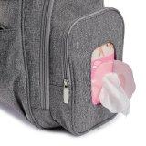 Viagens cinza Saco Organizador das fraldas para bebé mochila com almofada de Mudança