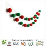 Wolle-Filz-Kugeln für Weihnachtsdekoration (Green+Red)
