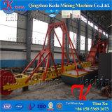 Sand-Bergbau-Gold und Eisen, die Bagger-Maschine extrahieren