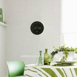 Horloge de mur réglée du cercle DEL Digital de temps automatique de signal radio