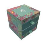 Hot Stamping de regalo de joyas de papel cartón de embalaje con cajón