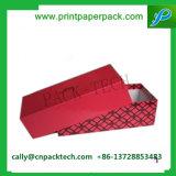 Изготовленный на заказ напечатанный логосом упаковывать коробки подарка картона ювелирных изделий штейновый черный