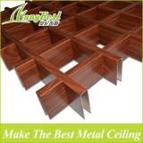 Red de aluminio del techo suspendido del grano de madera arquitectónico