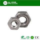 Plaine de soudure en acier au carbone de l'écrou hexagonal (DIN929)