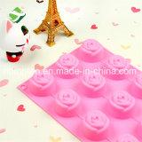 100% moulages de gâteau de fleur des silicones 15-Cavity de catégorie comestible