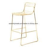 Caso o fio metálico Ouro Empilháveis Mobiliário Cafe Bar Tamborete e tabelas