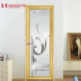 浴室のためのミラーガラスが付いているアルミニウムフレームの開き窓のドア