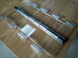 Em policarbonato transparente de ver através da exposição do obturador