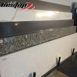 Bancada cinzenta da cozinha de quartzo da cor de Carrara cortada para fazer sob medida o preço