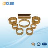 Encaixes rosqueados fazendo à máquina personalizados do CNC da boa qualidade tubulação quadrada de bronze