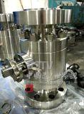 위조된 탄소 강철 가득 차있는 포트 3PC 플랜지 공 벨브