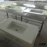 水晶上の浴室の家具のプレハブの安いホテルの浴室の虚栄心