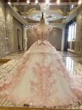 Платье венчания мантии шарика шнурка иллюзиона шикарное в цвете