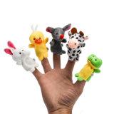Chiffre mou animal jouet de poupée de peluche de marionnette de doigt de bébé