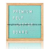 Panneau en bois de lettre de feutre de noir 10 x 10 pouces avec 290 lettres blanches