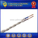 Рейон ткани покрыл Twisted заплетенное тканье провода освещающ кабель ткани