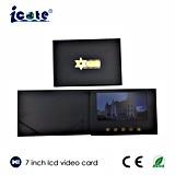 Neuester Entwurf videobroschüre der 7 Zoll PU-LCD mit der Tasche und dem stempeln Punkt