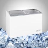 Congelatore dritto del portello di vetro libero commerciale di gelo per il gelato