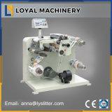 Surtidor horizontal de la máquina de la etiqueta que rebobina que raja adhesiva en China