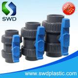 Poignée bleue en PVC véritable Union clapet à bille (DIN, ANSI, BS)