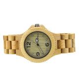 2018 Bois en cuir de montres hommes OEM Logo personnalisé le commerce de gros bois de Bambou Watch