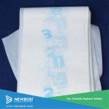 Pleine respirante pour bébé de couches de film de plastification Tôle arrière