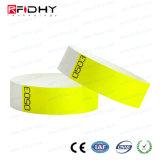 L'admission Tyvek bracelet RFID avec numéro de série