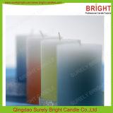 Velas del pilar del color del gradiente de Unscented de la alta calidad seguramente de brillante
