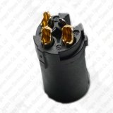 Goldenes XLR 3 Pin-weibliches Mikrofon-Kabel steckt Enden-Verbinder-Qualitäts-Schwarzes ein
