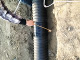 Труба из волнистого листового металла HDPE Sn8 1000mm стальной полосы усиленная спиральн