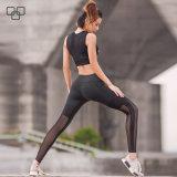 Изготовленный на заказ тяжелое дыхание Legging йоги оптовой продажи ярлыка, сексуальная йога задыхается женщины с гимнастикой Yogawear сетки